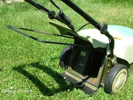 Neuton mower bagger frame