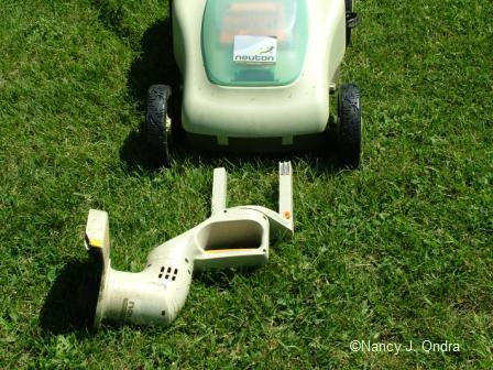 Neuton mower trimmer edger attachment