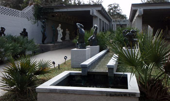 The Sculpture Court, located in the center of the garden