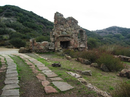 side view with greenery of hills and remains in Ojai California-resized