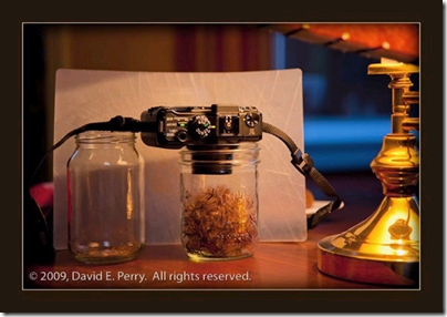 David Perry-a side view of table lamp and jar