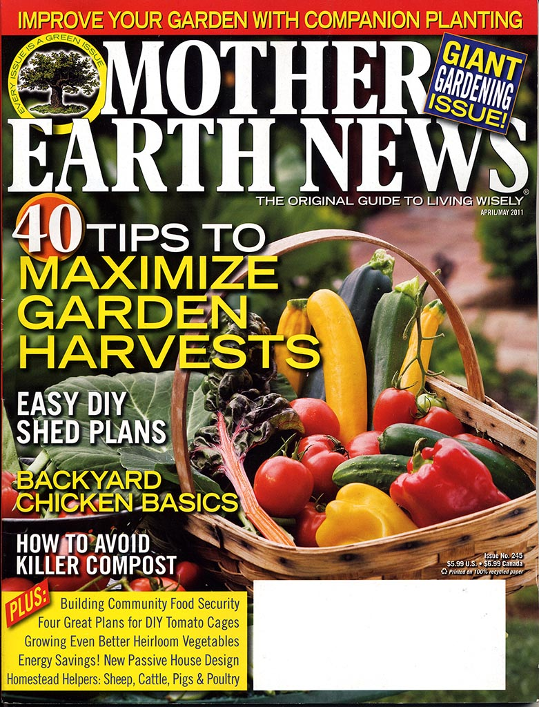 cover Mother Earth News May 2011