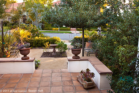 California Front Yard Patio and Entry Garden