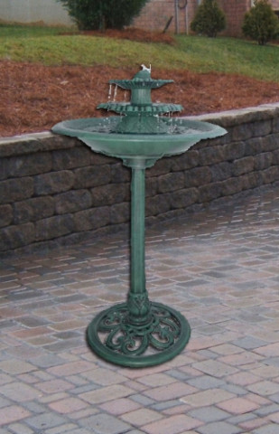 Three Tier Decorative Fountain Birdbath