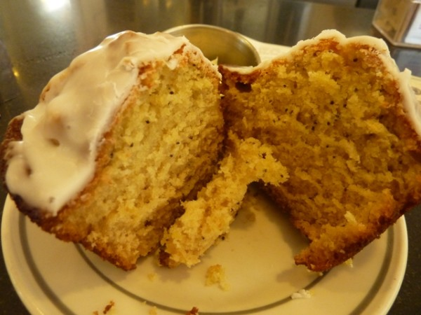 Morningstar Cafe in Philadelphia - Lemon poppy seed muffin