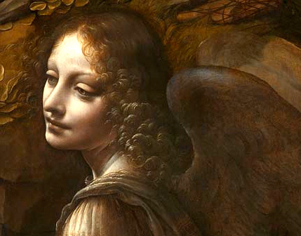 Leonardo da Vinci, The Virgin of the Rocks - Angel detail