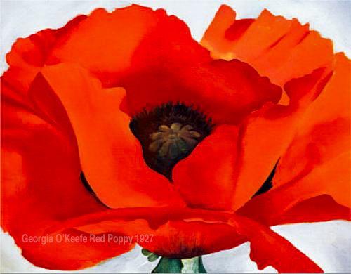 "Georgia O'Keefe ""red Poppy"" 1927"