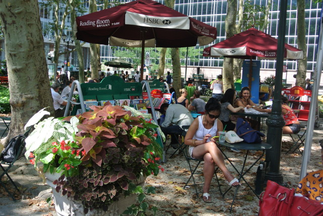 Bryant Park's Reading Room