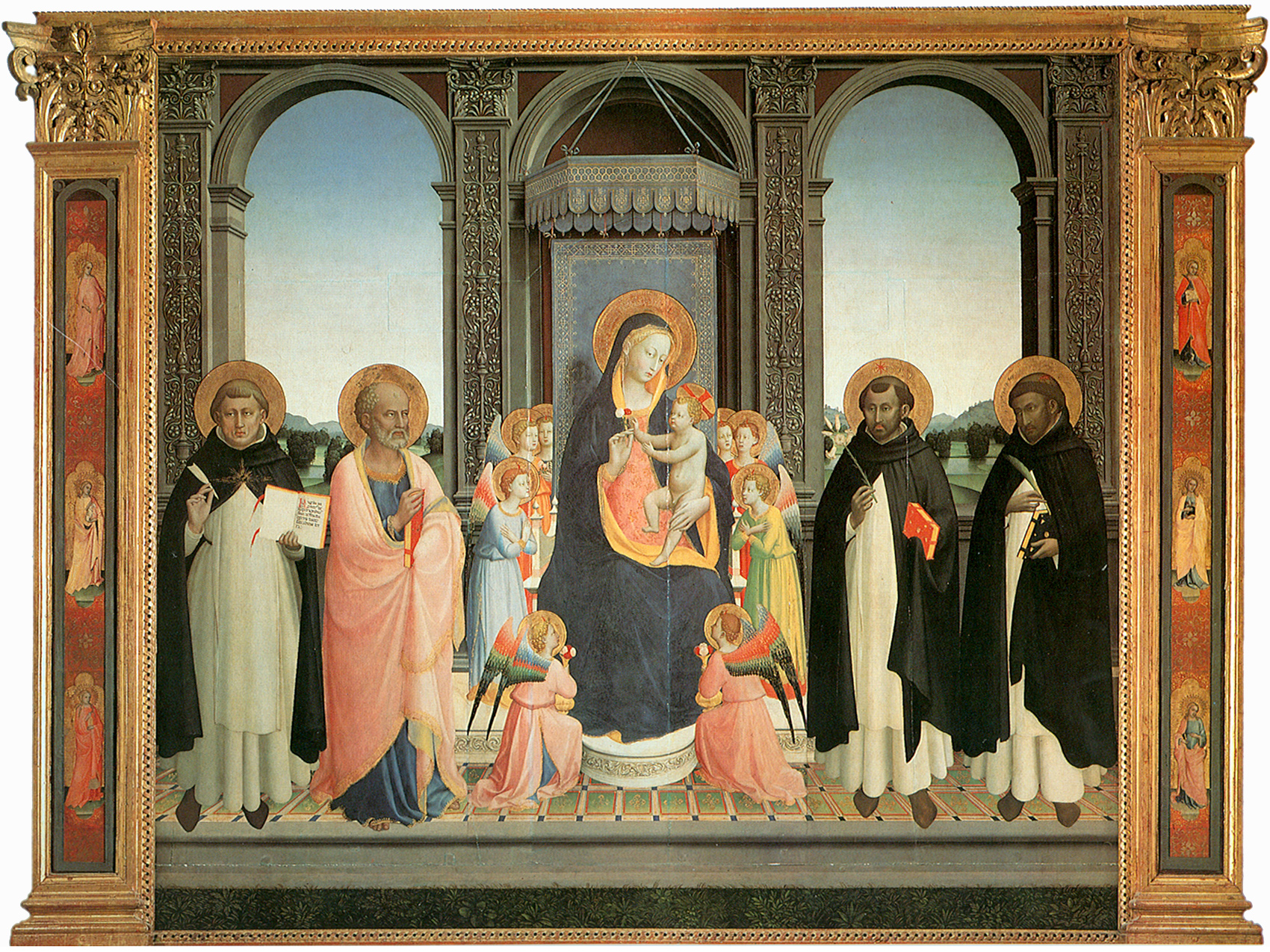 Fra Angelico - altarpiece for the church and convent of San Domenico in Florence 1423