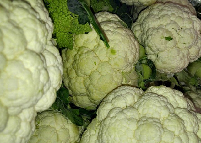 Cauliflowers from Tel Aviv farmer's market